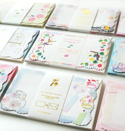 新発売 夏柄ミニレターシリーズ