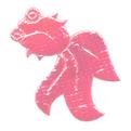金魚アップリケCGHM175
