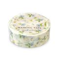 青小花柄 マスキングテープCGMT3008